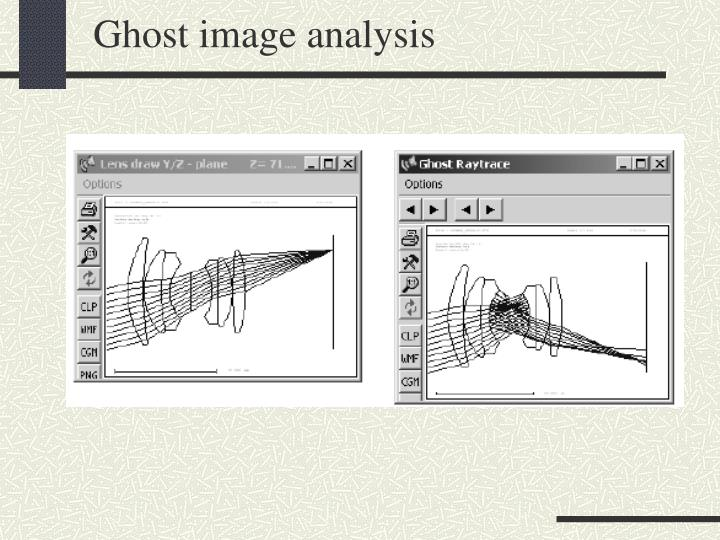 Ghost image analysis