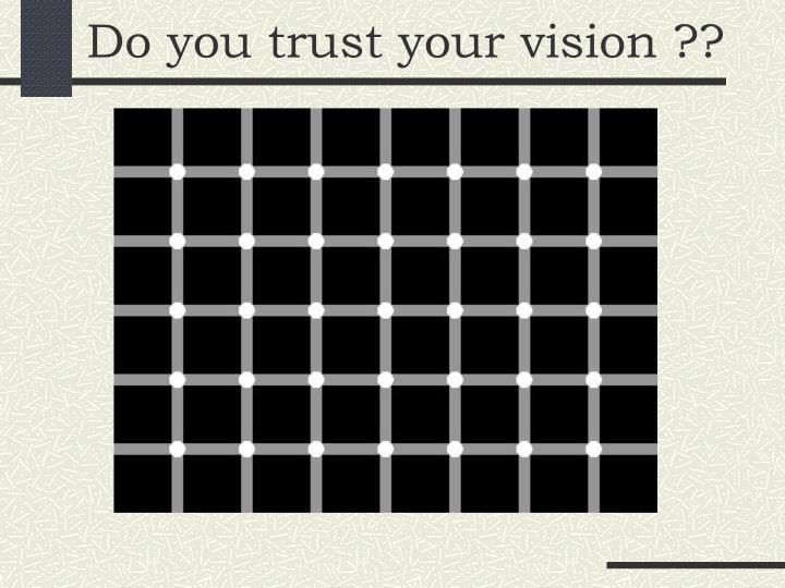 Do you trust your vision ??