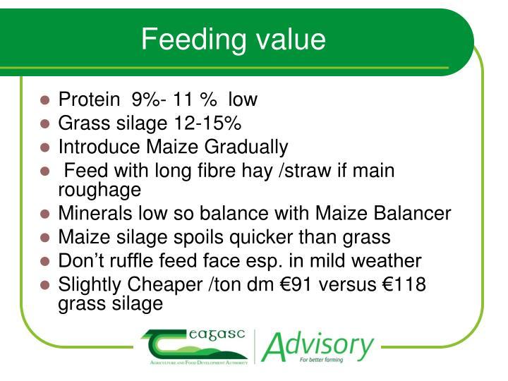 Feeding value