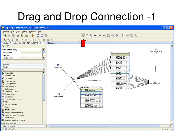 Drag and Drop Connection -1