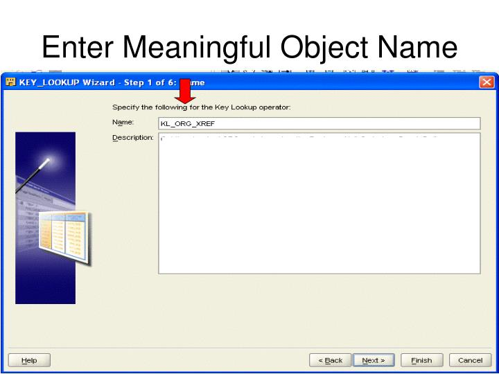 Enter Meaningful Object Name