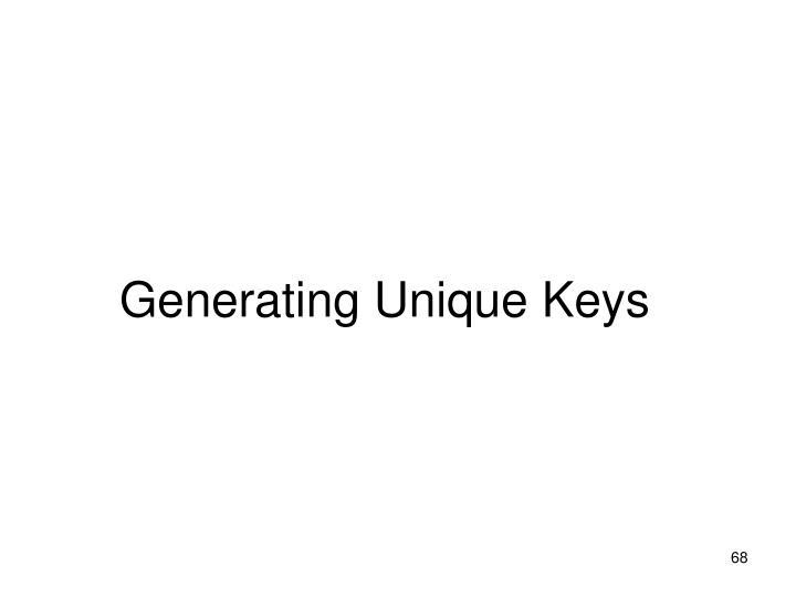 Generating Unique Keys