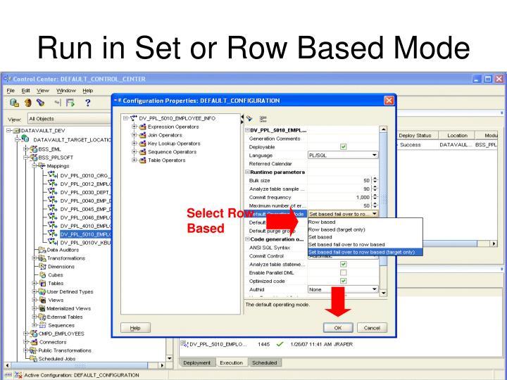Select Row Based