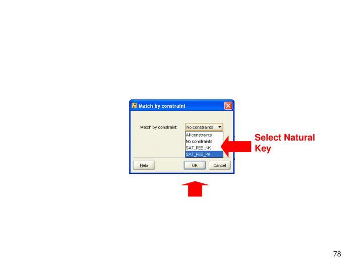 Select Natural Key