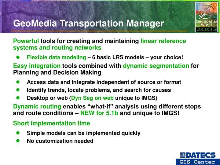 GeoMedia Transportation Manager