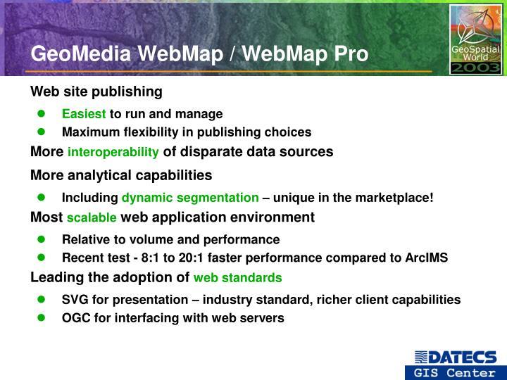 GeoMedia WebMap / WebMap Pro
