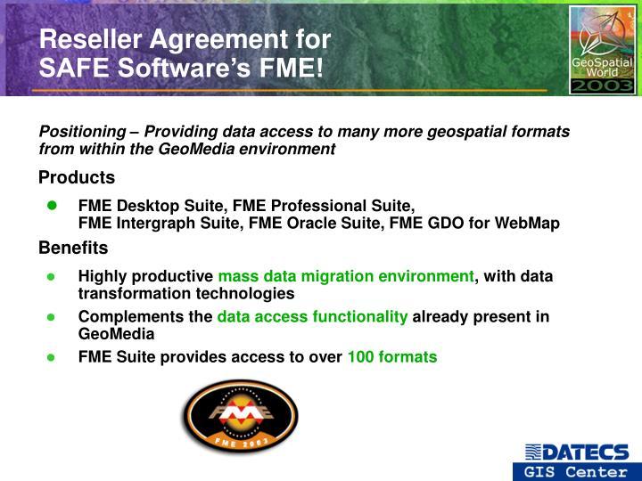 Reseller Agreement for