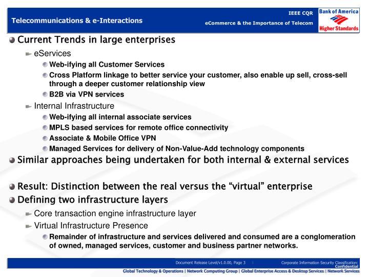 Telecommunications & e-Interactions