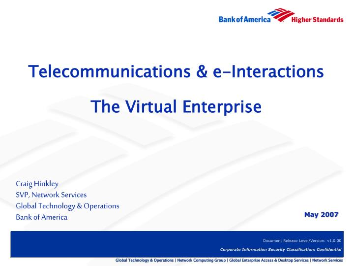 telecommunications e interactions the virtual enterprise