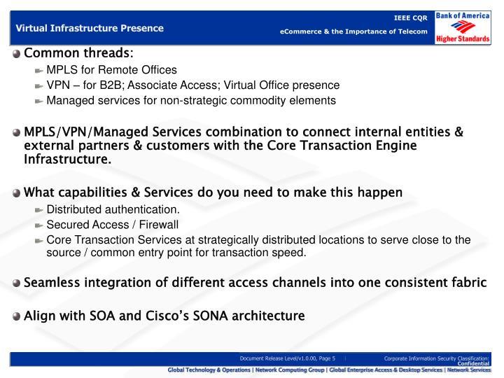 Virtual Infrastructure Presence
