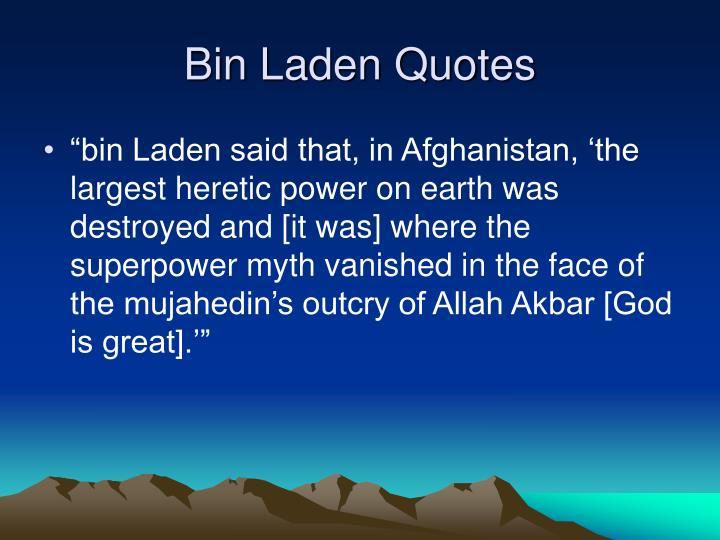 Bin Laden Quotes