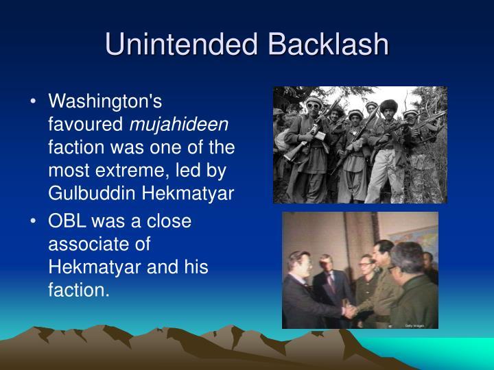 Unintended Backlash