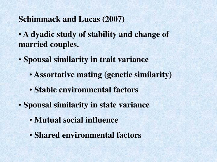 Schimmack and Lucas (2007)
