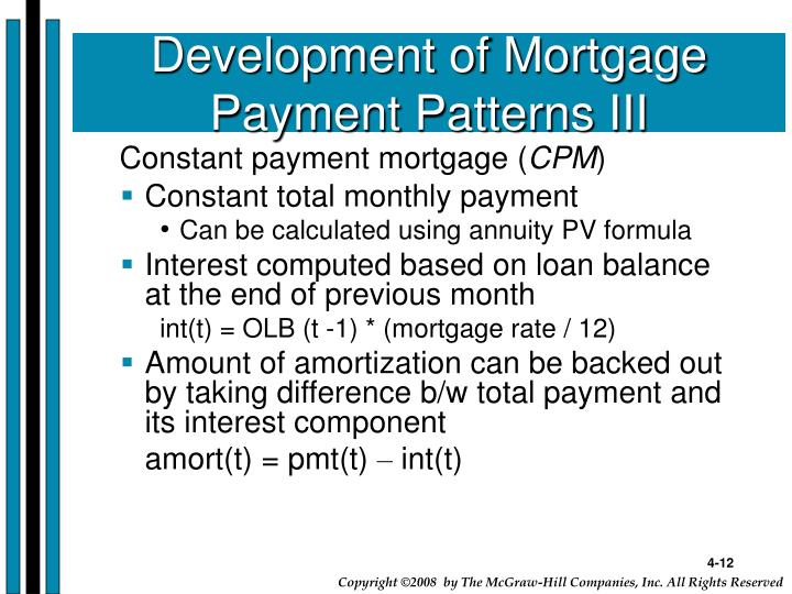 Development of Mortgage Payment Patterns III