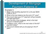 development of mortgage payment patterns iii2