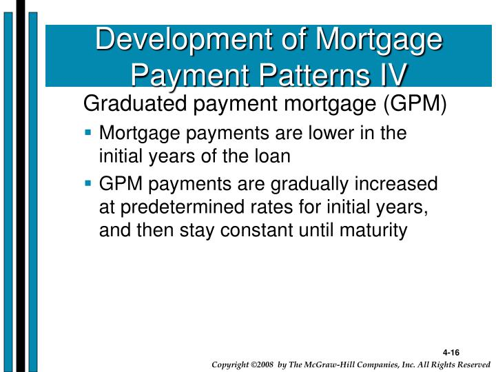 Development of Mortgage Payment Patterns IV