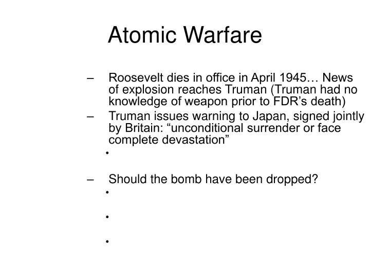 Atomic Warfare