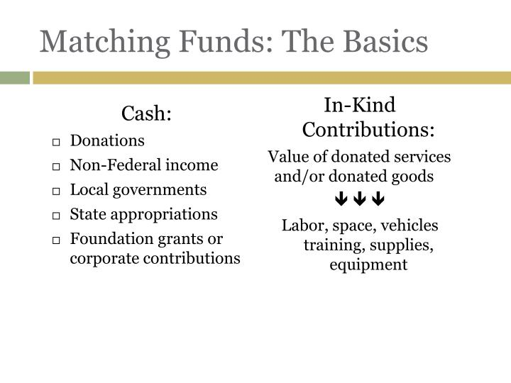 Matching Funds: The Basics