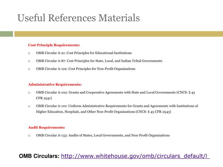 Useful References Materials