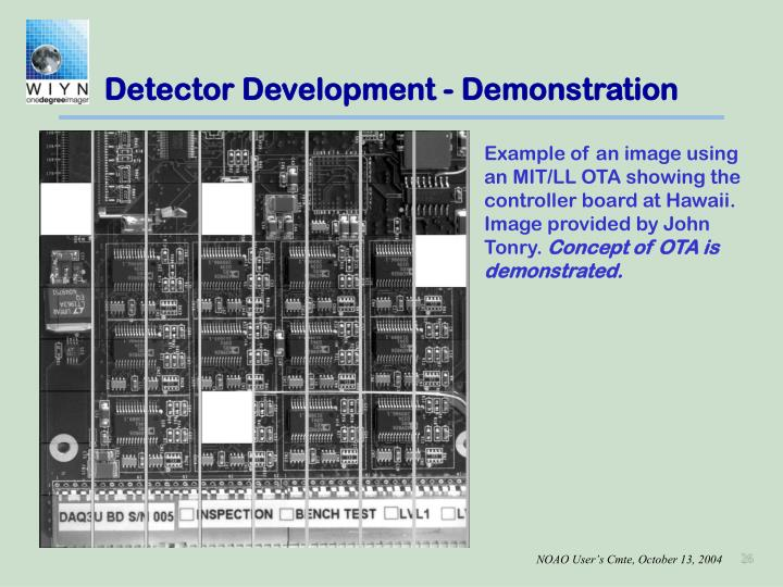 Detector Development - Demonstration