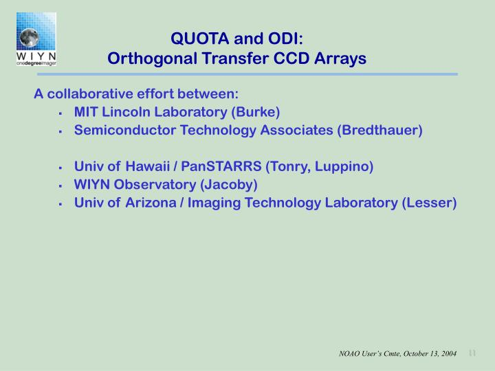QUOTA and ODI: