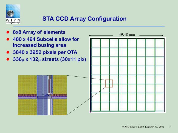 STA CCD Array Configuration