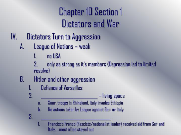 Chapter 10 Section 1