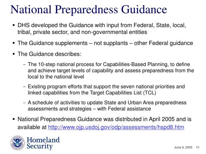 National Preparedness Guidance