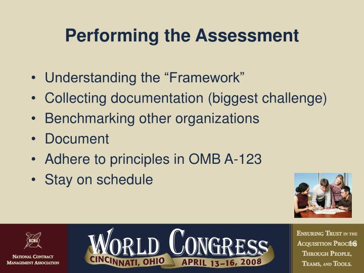 Performing the Assessment