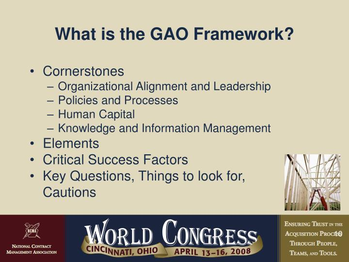 What is the GAO Framework?