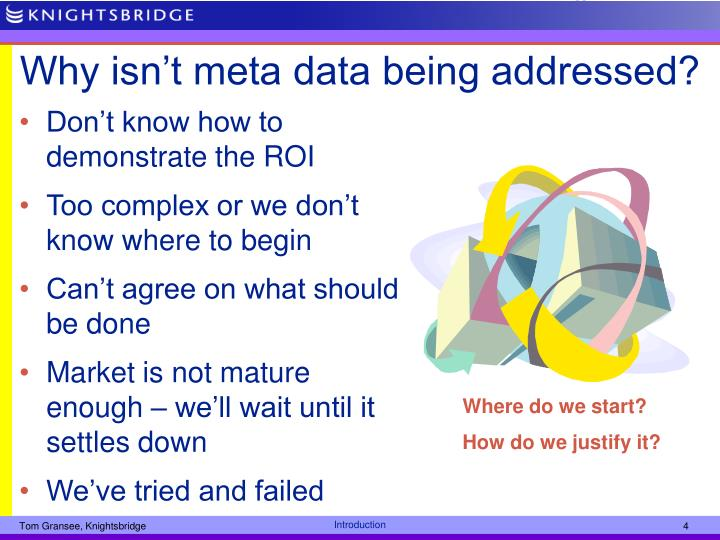 Why isn't meta data being addressed?