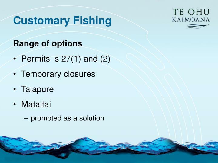 Customary Fishing
