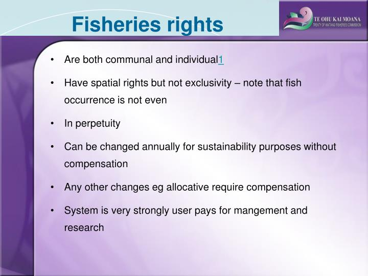 Fisheries rights