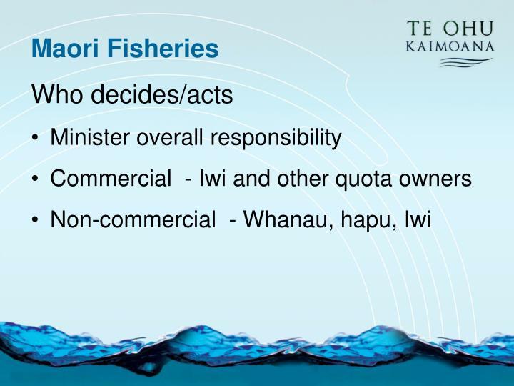 Maori Fisheries