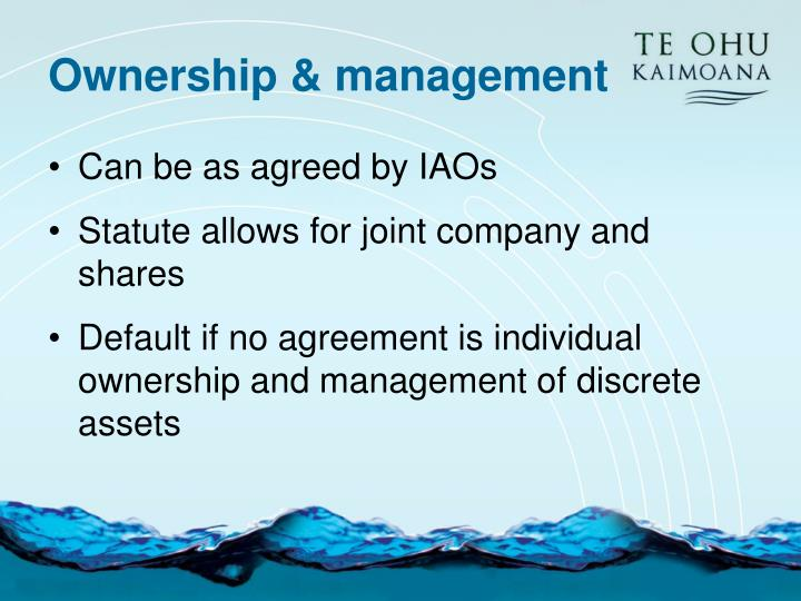 Ownership & management