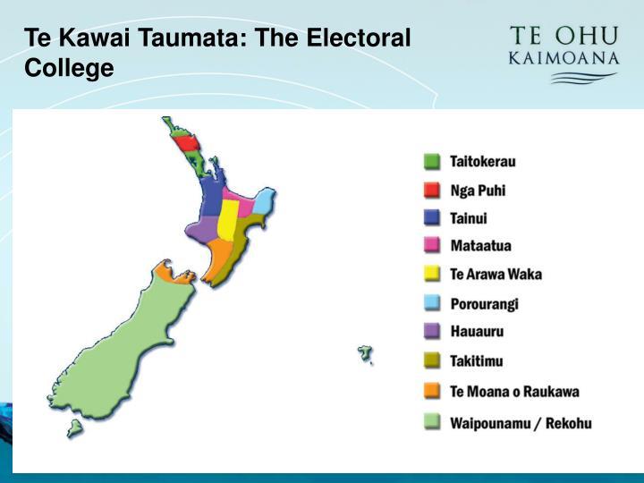 Te Kawai Taumata: The Electoral College