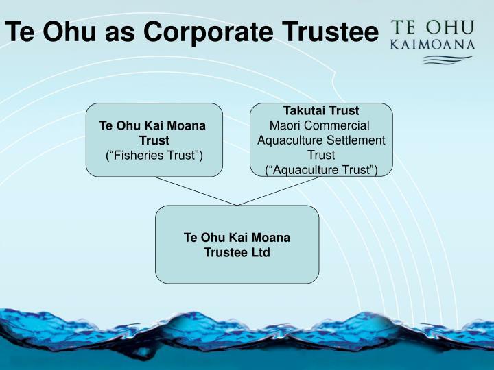 Te Ohu as Corporate Trustee