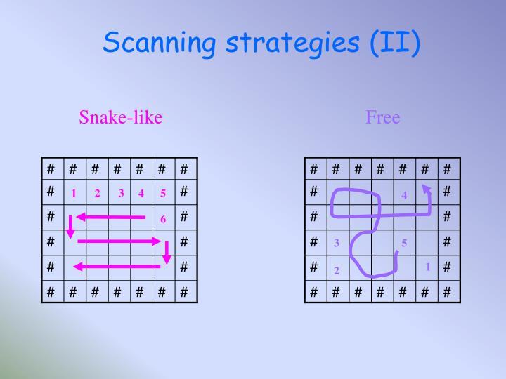 Scanning strategies (II)