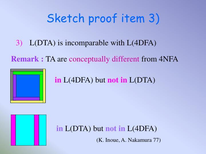 Sketch proof item 3)
