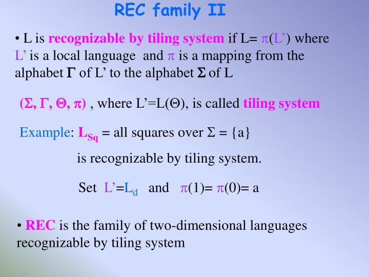 REC family II