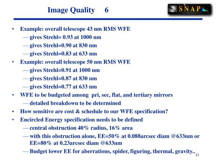 Image Quality     6