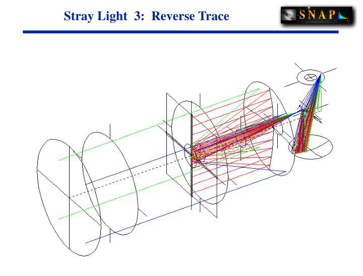 Stray Light  3:  Reverse Trace