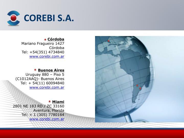 COREBI S.A.