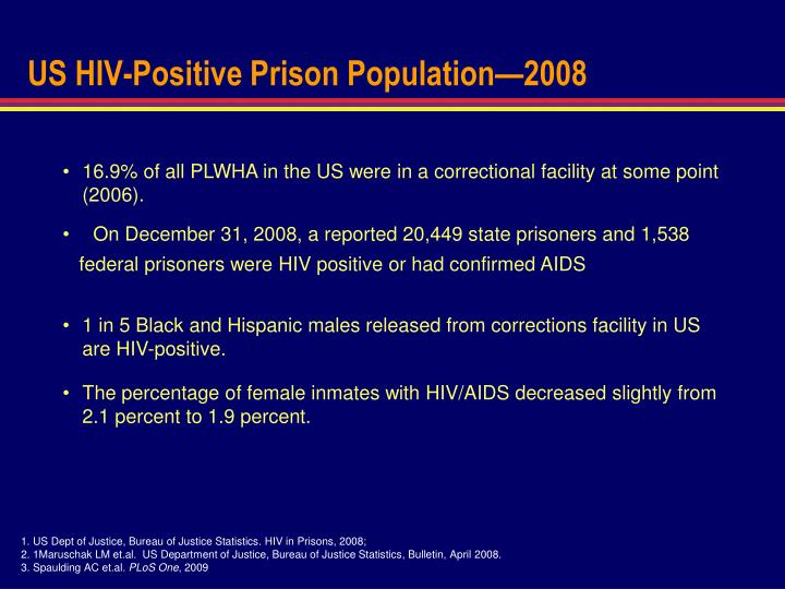 US HIV-Positive Prison Population—2008