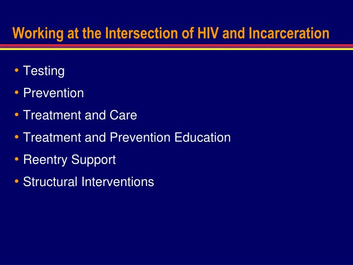 Working at the Intersection of HIV and Incarceration