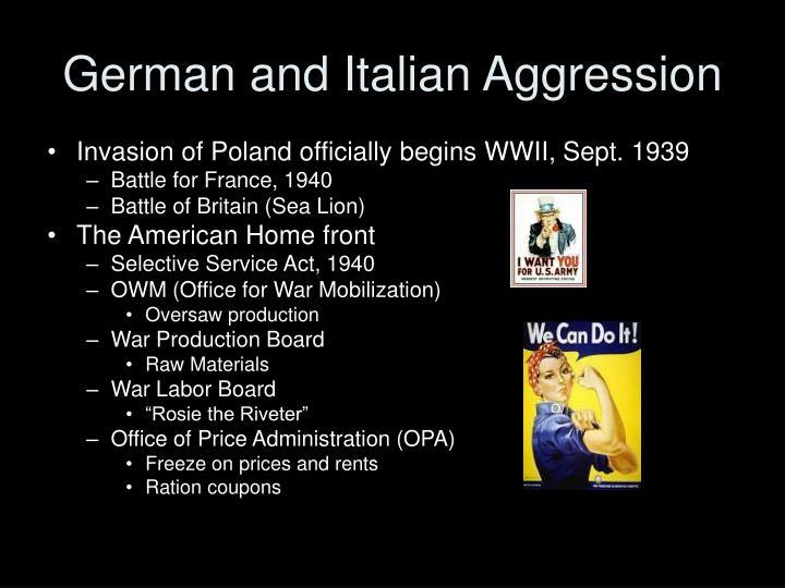 German and Italian Aggression