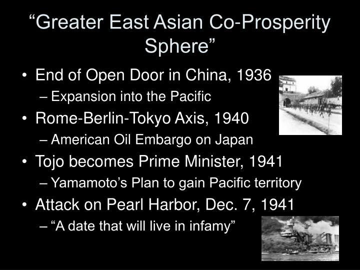 """Greater East Asian Co-Prosperity Sphere"""