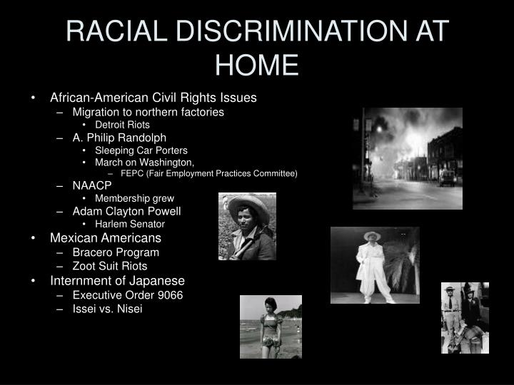 RACIAL DISCRIMINATION AT HOME