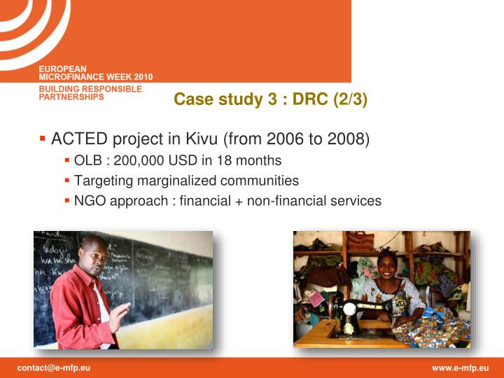 ACTED project in Kivu (from 2006 to 2008)