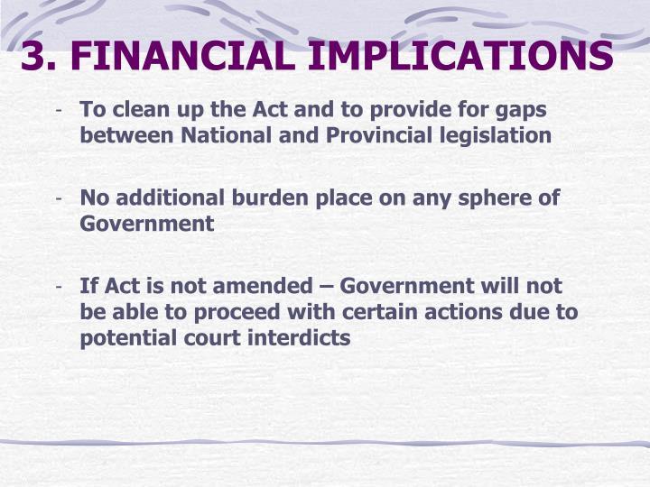3. FINANCIAL IMPLICATIONS
